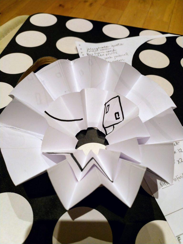 practising folding circles for toroidal book structure
