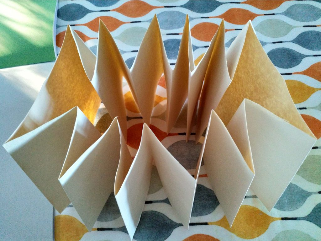 12 segments folded for toroidal book structure
